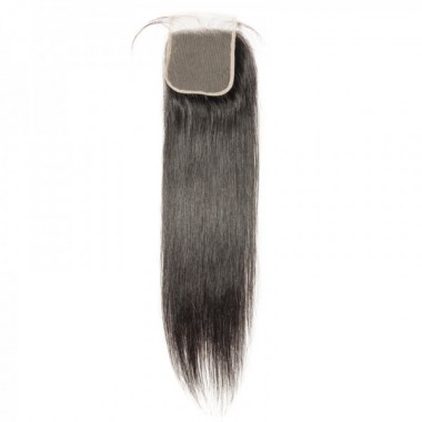 Premium Donor Virgin Hair Top Quality 4*4 Straight Transparent Lace Closure