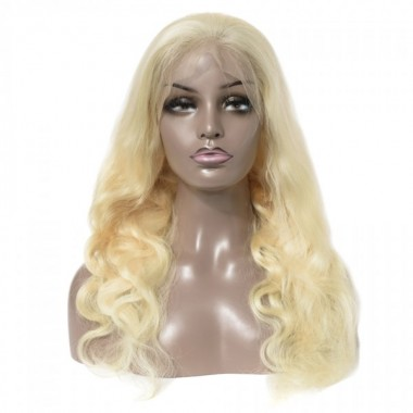 Premium Donor Brazilian 13*4 613 Blonde Body Wave Lace Frontal Wig 180% Density