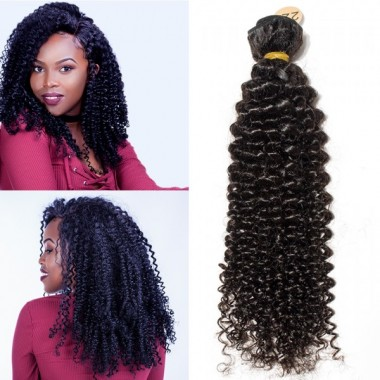 Premium Donor Brazilian Afro Kinky Curly Virgin Hair Single One Donor Human Hair Curly Bundle