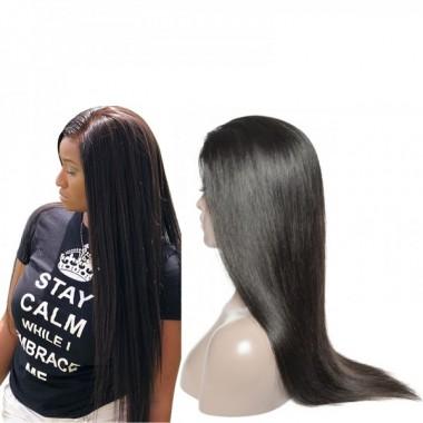 Brazilian Donor Virgin Hair 4*4 Straight Lace Closure Wig 180% Density