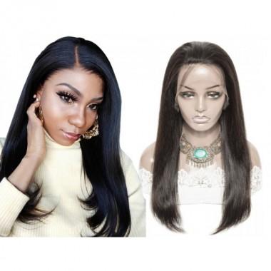 Premium Donor Brazilian Straight Virgin Hair 13*4 HD Lace Frontal Wig 180% Density