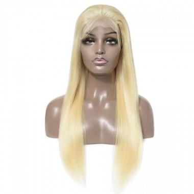 Premium Donor Brazilian 613 Blonde 4x4 Straight Lace Closure Wig 180% Density