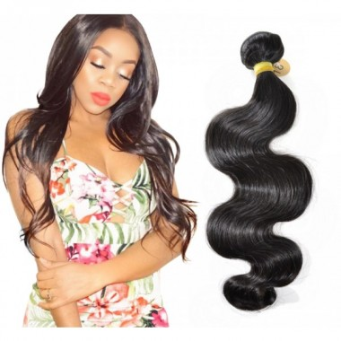 Indian Human Virgin Hair Body Wave Bundle Weaving One Donor Thick Human Hair Extension