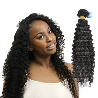 Top Quality Indian Human Virgin Hair Deep Curly Bundle Tight Curl Hair One Donor Bundle