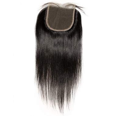 Premium Donor Virgin Hair Top Quality 5*5 Straight Lace Closure