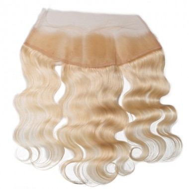 Premium Donor Virgin Hair Top Quality 13*4 Blonde #613 Body Wave Free Part Lace Frontal