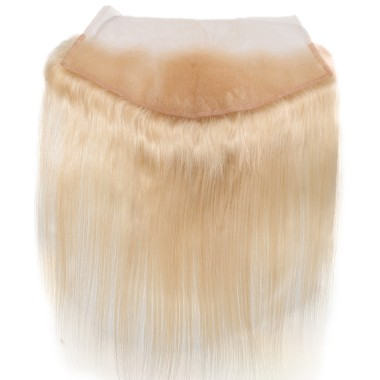 Premium Donor Virgin Hair Top Quality 13*4 Blonde #613 Straight Free Part Lace Frontal