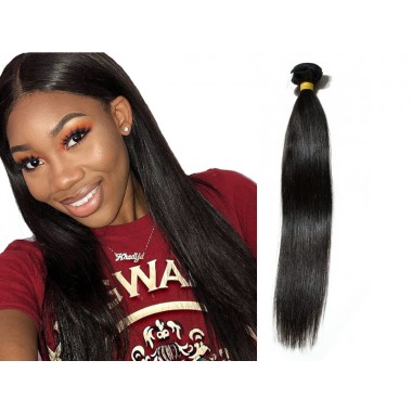 Premium Donor Brazilian Straight Virgin Hair Weaving Natural Color 100% Unprocessed Human Raw Hair Weft Bundle