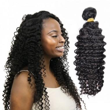 High Quality Peruvian Human Virgin Deep Curly Hair Bundle Natural Color Human Hair Weaving