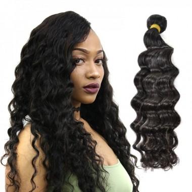 Peruvian Human Virgin Hair Loose Deep 1 Bundle 100% Unprocessed Raw Hair Weft Intact Cuticle