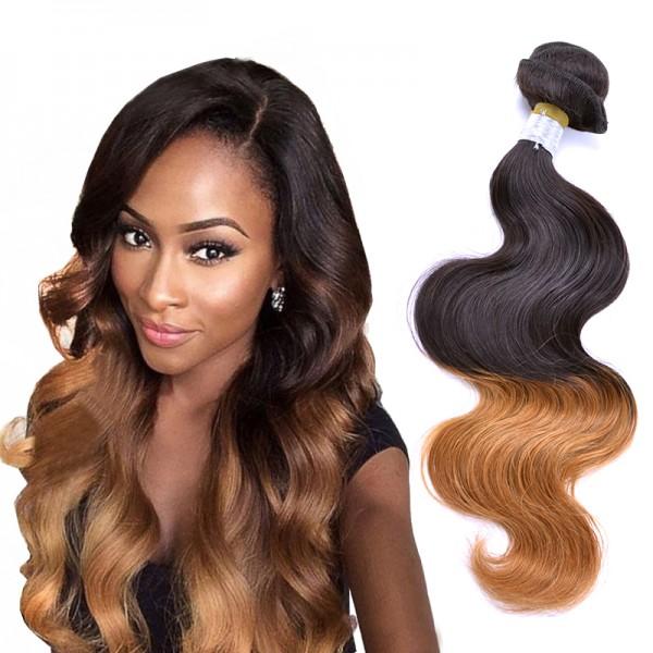 1 Bundle Brazilian Human Virgin Hair Two Tone 27 Ombre Body Wave