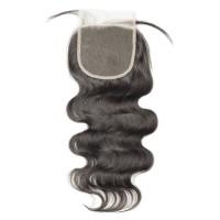 Premium Donor Human Virgin Hair Top Quality 4*4 Body Wave Free Part Transparent Lace Closure