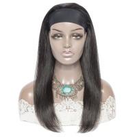 Premium Made Brazilian Virgin Hair Straight Headband Wig 180% Hair Density