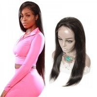 Premium Donor Brazilian Straight Hair Undetectable HD Lace Wig 5*5 Human Hair Lace Closure Wig 180% Density