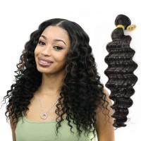 Indian Human Virgin Hair Weave Deep Wave Bundle Tight Wavy Human Hair Weft Cuticle Aligned Hair