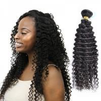 Malaysian Deep Curl Virgin Human Hair Weaving Bundle Cuticle Aligned Virgin Hair Weft