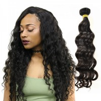 1 Bundle Malaysian Loose Deep Unprocessed Human Virgin Hair Bundle Cuticle Aligned Hair Weaving