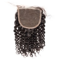 Premium Donor Virgin Hair Top Quality 4*4 Kinky Curly Lace Closure