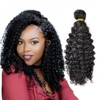 1 Piece Peruvian Virgin Human Hair Kinky Curly Unprocessed Best Curly Weave Extension