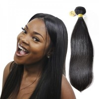 Peruvian Straight Virgin Hair Weave Bundle Natural Color Human Hair Weft Tangl-Free Straight Bundle