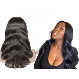 Premium Donor Brazilian Virgin Hair 4*4 Body Wave Lace Closure Wig 180% Density
