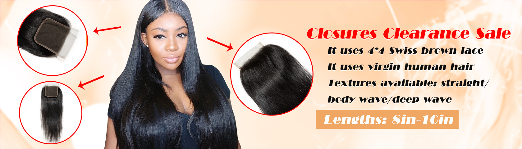 New Star 4*4 Straight Lace Closure