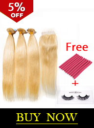 Russian Blonde Virgin Hair #613 Bundles with Closure