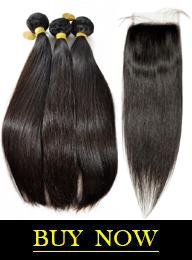 Brazilian Virgin Hair Straight Bundles with HD Lace Closure