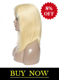 13*6 Blonde Straight Front Lace Bob Wig