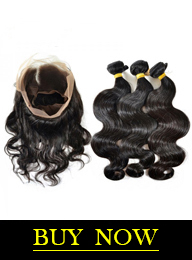 Brazilian Human Virgin Hair Body Wave Bundles with 360 Lace Frontal