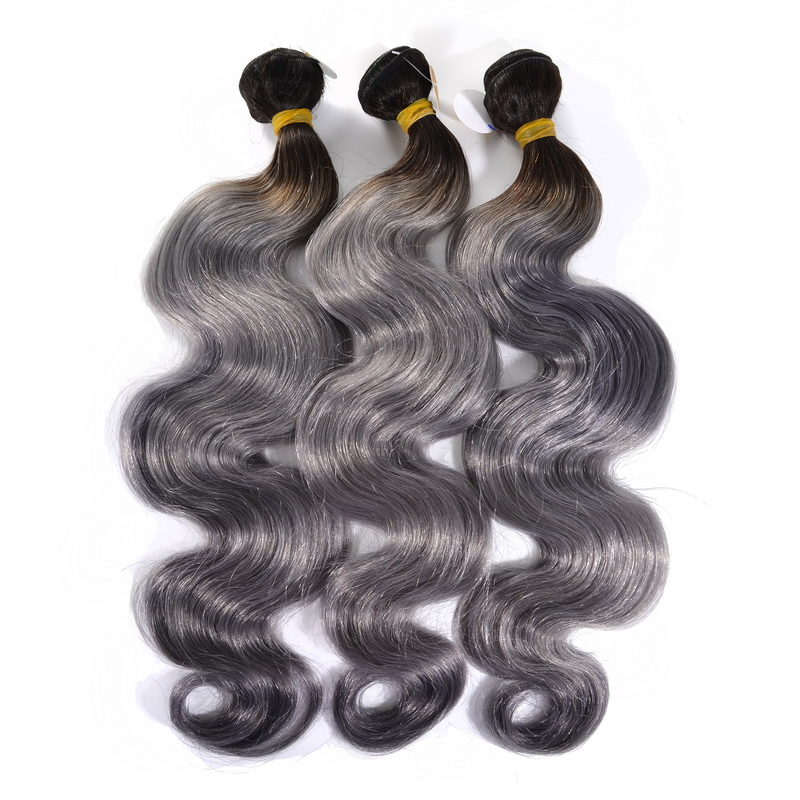 Grey Ombre Body Wave Hair