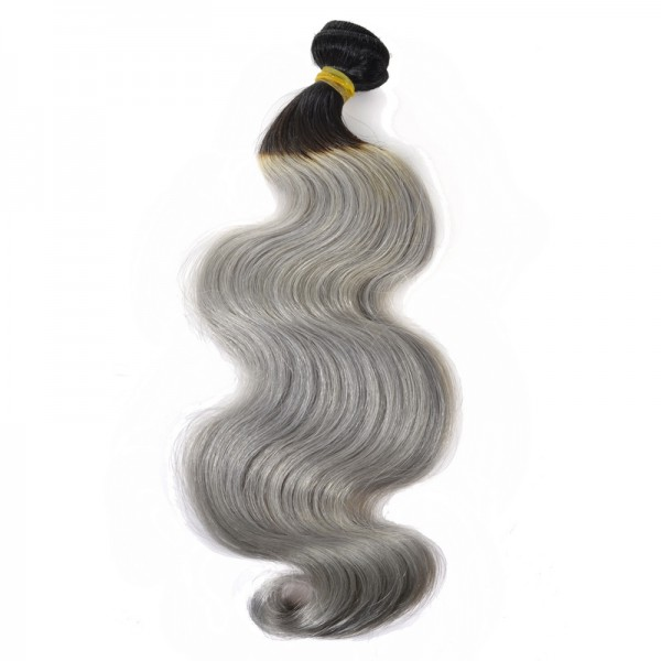 Body Wave Ombre Grey Hair