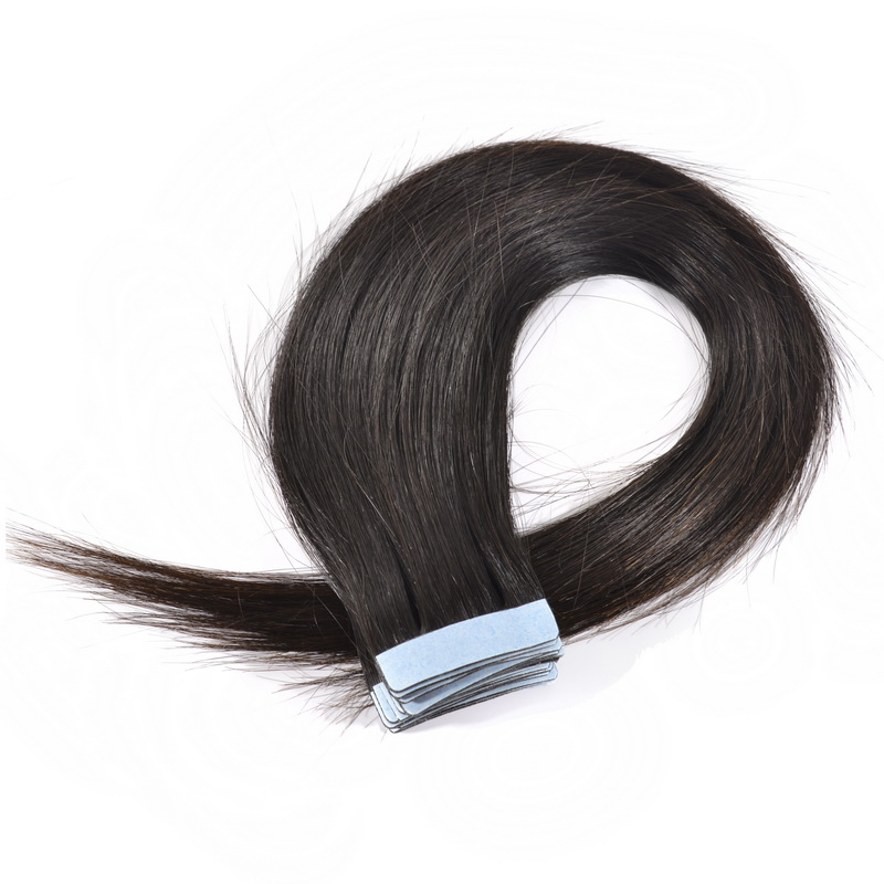 Black Tape Straight Hair Extensions