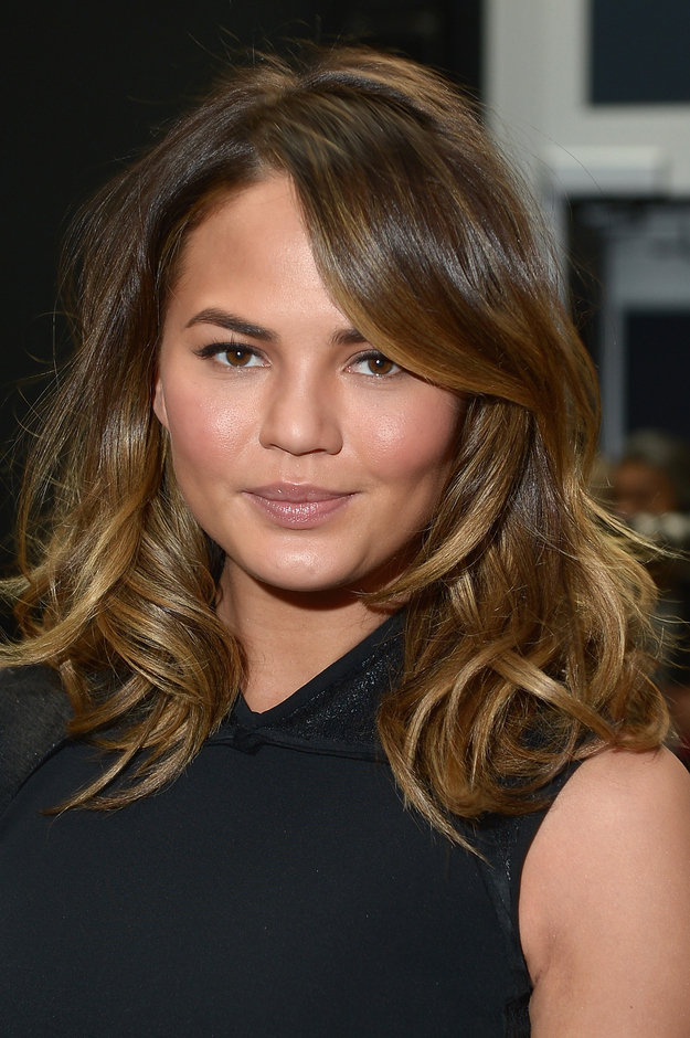 Chrissy Teigen with Ombre Hair