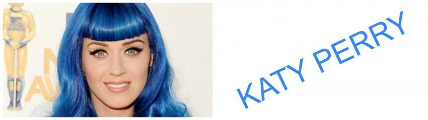 Katy Perry Blue Colored Hair
